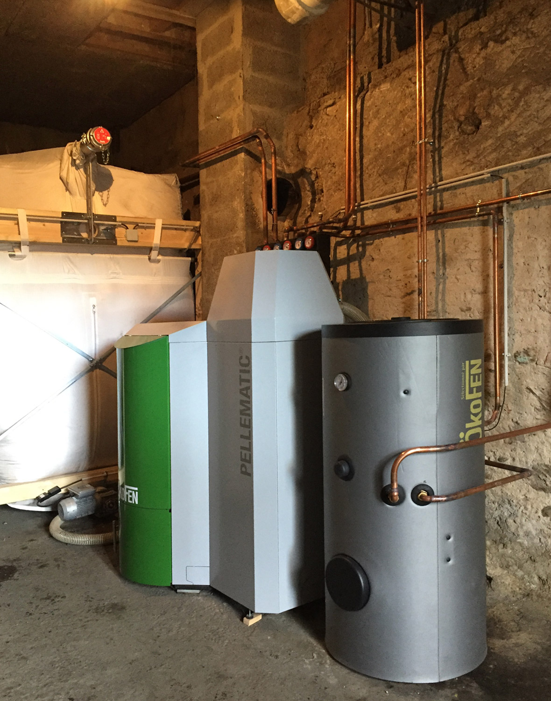 Germinal - installation d'une chaudière à granulés bois
