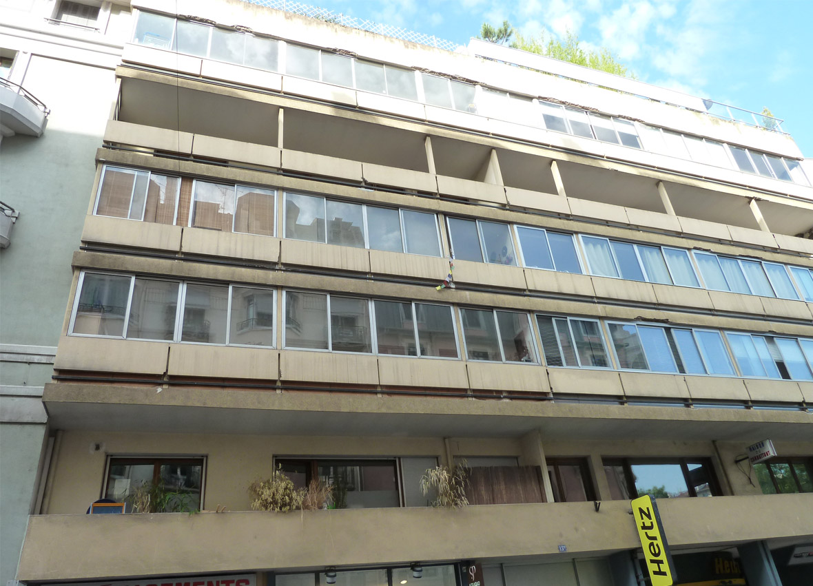 Germinal - Facade d'un bâtiment avant rénovation