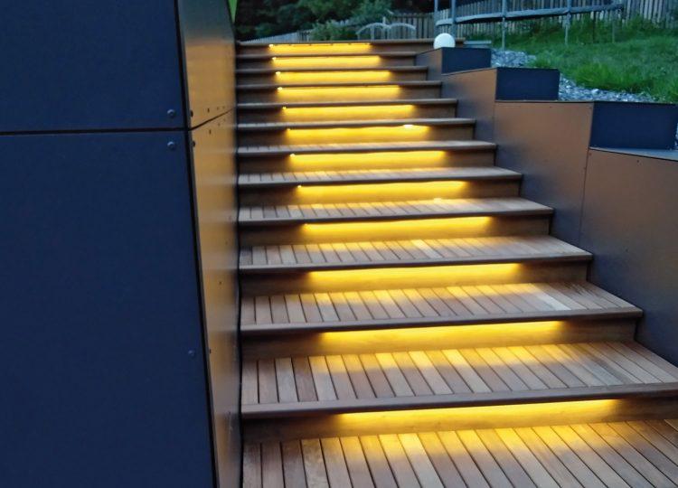 Germinal - Éclairage d'escaliers extérieurs